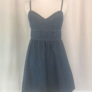 Express denim short dress